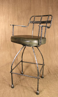 iron backrest bar stool
