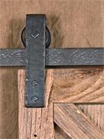 simple strap barn door trolley