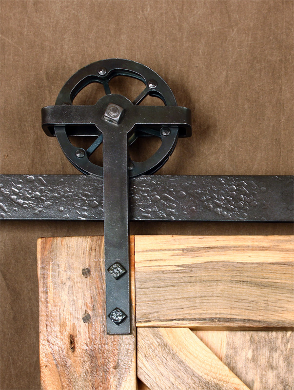 ... Simple Riveted Wheel Barn Door Trolley