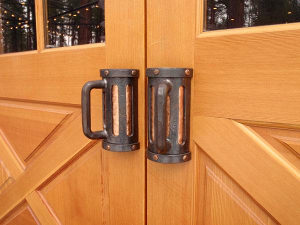 Beer Mug Door Handles, Wrought Iron ...