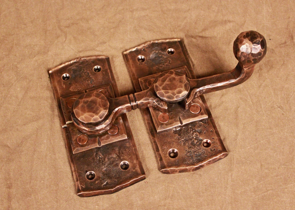 Charmant Hand Forged Bronze Barn Door Latch