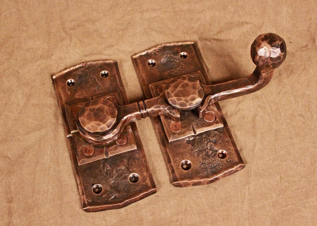 ... Wrought Iron Door Hardware Set. Hand Forged Bronze Barn Door Latch