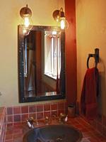 wrought iron ships deck bathroom mirror
