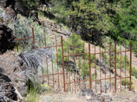 custom rusted iron fencing