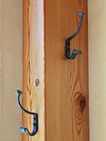 wrought iron coat & hat hooks