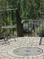 custom compass covering propane fire pit