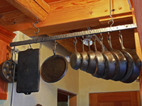 hand forged hanging pot rack