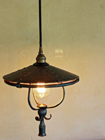 hanging copper pendant light