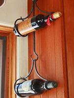 wrought iron hanging wine rack
