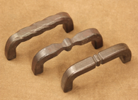 Hand forged cabinet hardware