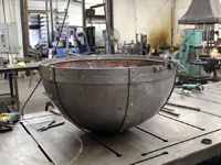 rough copper cauldron