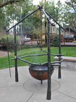 completes copper cauldron fire pit