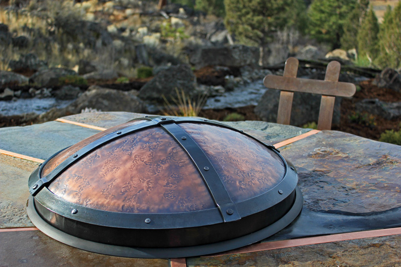 ... copper fire pit cover ... - Hand Crafted Fire Pits Ponderosa Forge