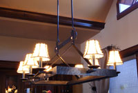 wrought iron custom dining room chandelier