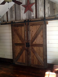 forged antique barn door tracks