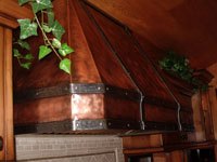 hand forged copper range hood