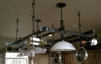 hand forged iron pot rack