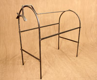 hand forged saddle stand