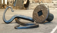 Hand forged gas keys by blacksmiths at Ponderosa Forge