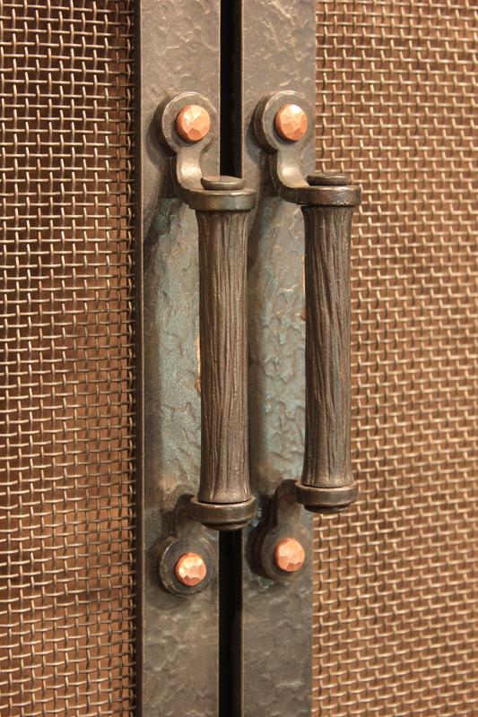 Fireplace Door Handle Options Ponderosa Forge Ironworks