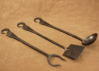 Hand forged kitchen hardware