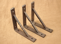 Hand forged wrought iron shelf brackets