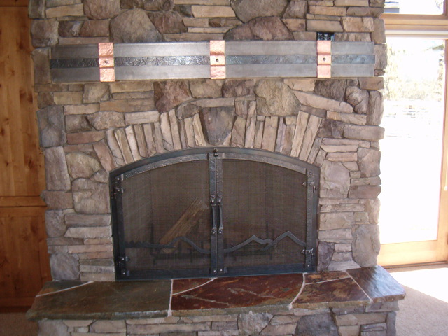 Steel Fireplace Mantel