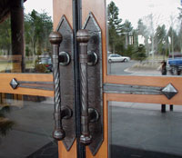 Sunriver iron door handles