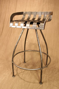 iron tractor seat bar stool