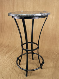 hand forged bistro table